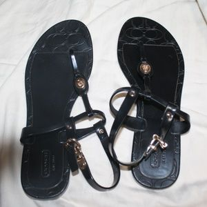 Coach Black Jelly Sandals